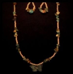 Native American Necklace and Earrings Set